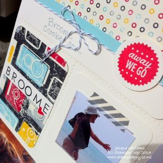 Stampin up flashback project life layout pearls pool party scrapbook