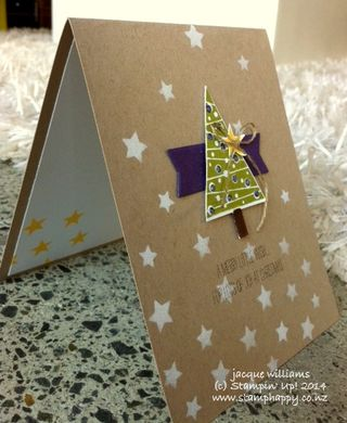 Stampin up festival of trees quick easy workshop 5 minute card