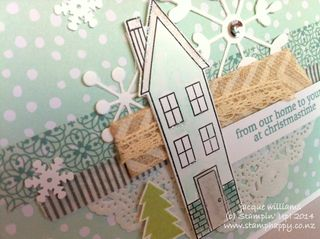 Stampin up holiday home christmas card easy pop up