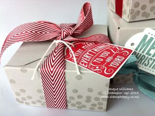 Stampin up dotty angles gift box punch board