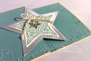 Stampin up bright and beautiful lost lagoon easy christmas