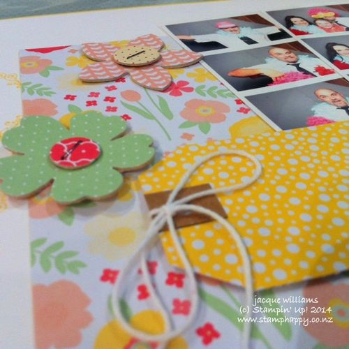 Stampin up all abloom under the tree layout scrapbooking