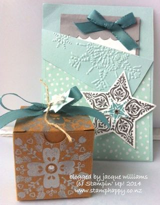 Stampin up bright and beautiful mini boxes advent