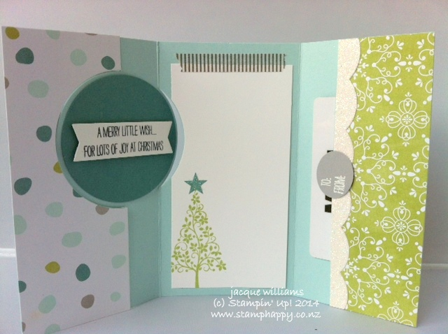 Stampin up festival of trees gift voucher card