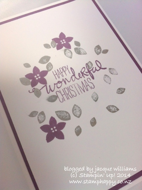 Stampin up wondrous wreath christmas