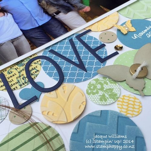 Stampin up scrapbooking masculine layout love circles