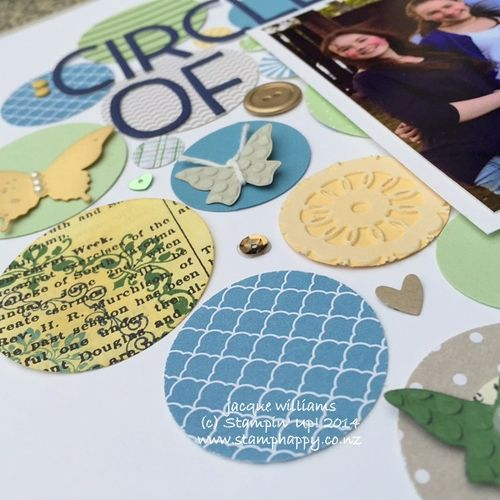 Stampin up scrapbooking layout circle of love masculine scraps