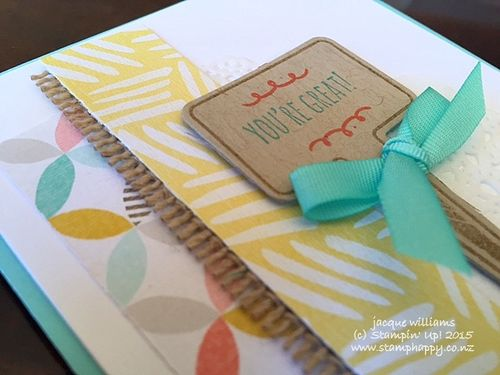 Stampin up best year ever from the garden coastal cabana