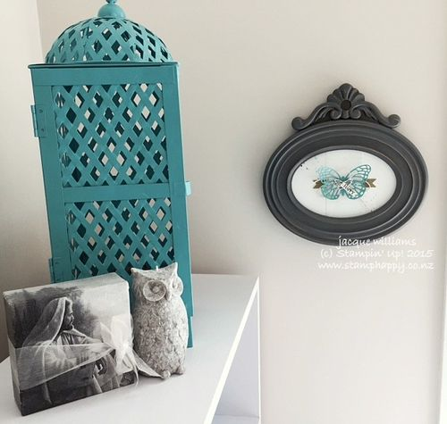 Stampin up butterfly basics framed wall art bermuda bay artisan