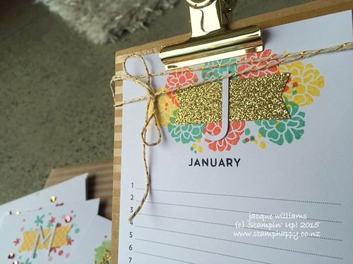 Stampin up perpetual calendar created kit