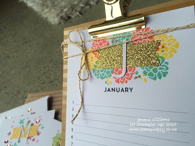Stampin up perpetual calendar created kit