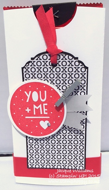 Stampin up masculine valentine you and me