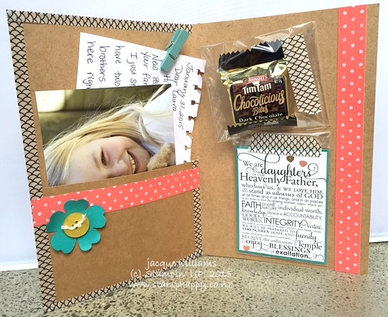 Stampin up hello you pen pal folder gift washi tape