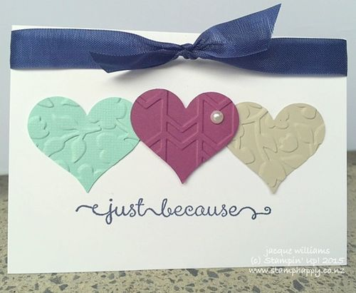 Stampin up just add ink colour color challenge sweetheart punch