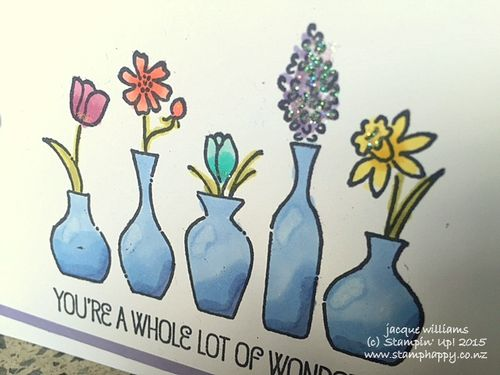 Stampin up vivid vases quick easy blendabilities
