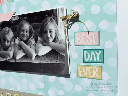 Stampin up best day ever scrapbook layout easy