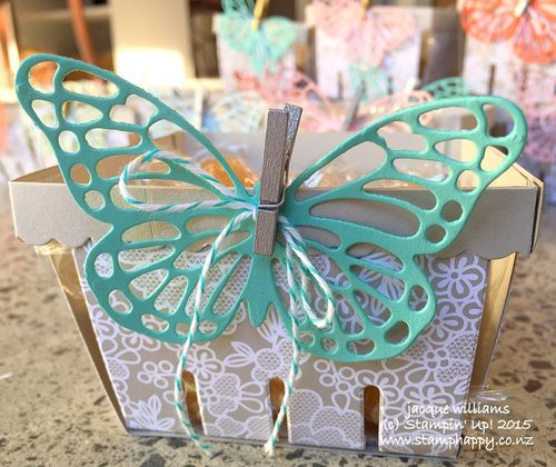 Stampin up berry basket simple butterfly die