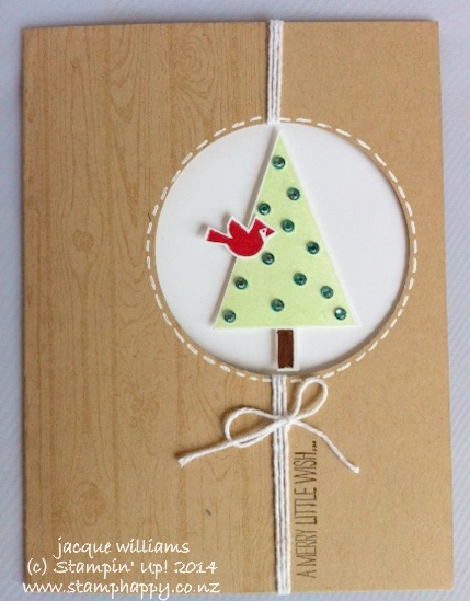 Stampin up festival of trees blendabilities quick christmas peek a boo