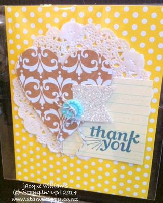 Stampin up everyday occasions thank you card