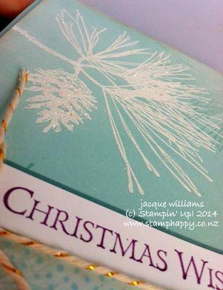 Stampin up ornamental pine christmas vintage white emboss
