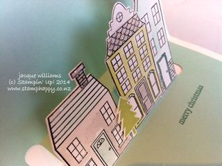 Stampin up holiday home pop up card easy christmas