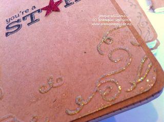 Stampin up cowboy vintage grid journal
