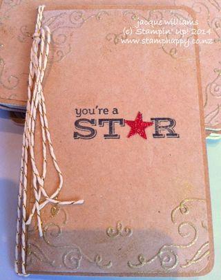 Stampin up filigree frame grid journal