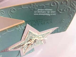 Stampin up bright and beautiful easy christmas tri fold fancy fold