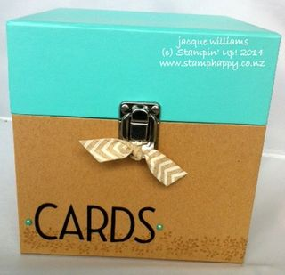 Stampin up card organizer easy gift idea box