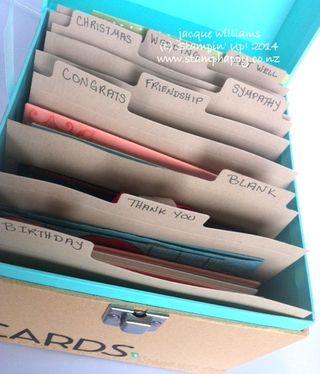 Stampin up card organizer