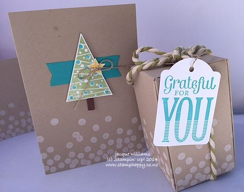 Stampin up festival of trees gift box maker quick christmas merry everything