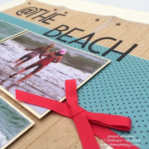 Stampin up scrapbooking beach four photos vintage