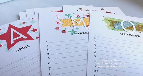 Stampin up perpetual calendar easy gift idea kit