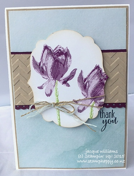 Stampin up lotus blossom saleabration painted blooms