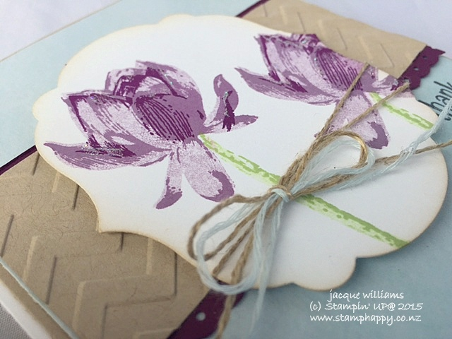 Stampin up lotus blossom blackberry bliss painted blooms