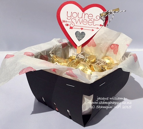 Stampin up berry basket you plus me