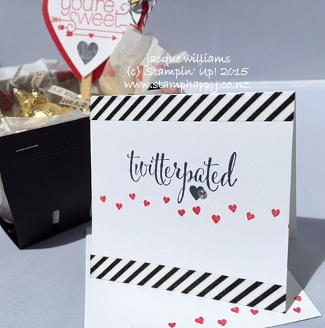 Stampin up you plus me valentine notecard