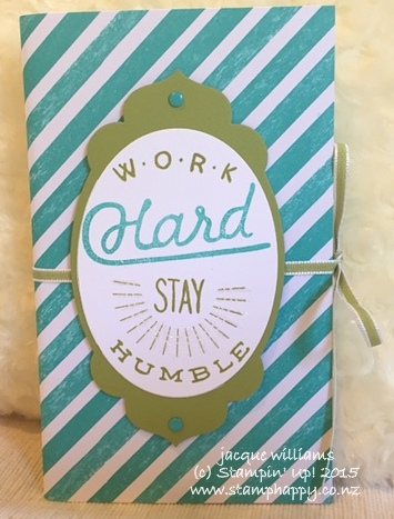Stampin up altered notebook adventure awaits birthday bash