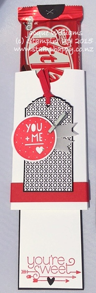 Stampin up masculine pull up double slider valentine
