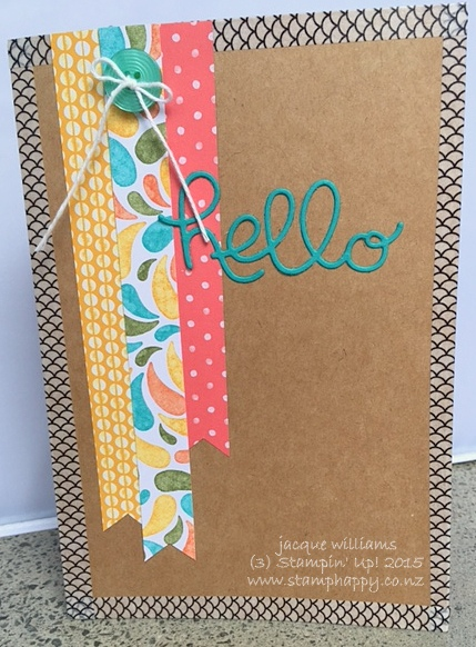 Stampin up hello you birthday bash pen pal fms