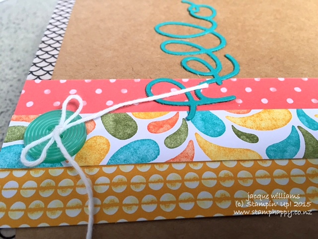 Stampin up hello you fms birthday bash hello you