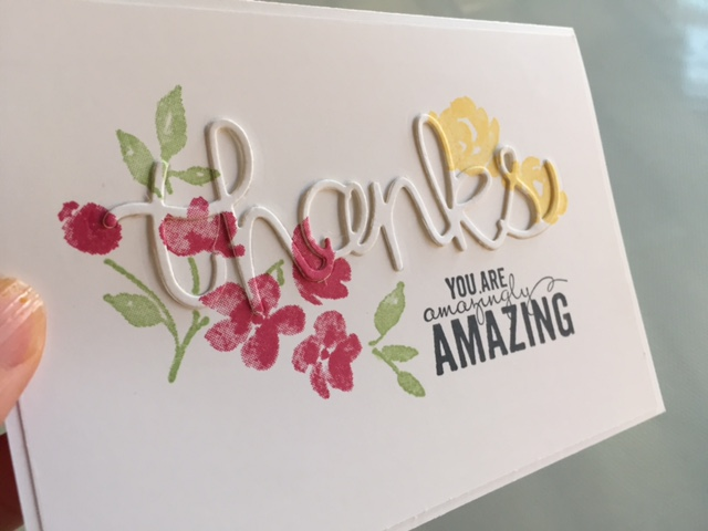 Stampin up painted petals hello you quick