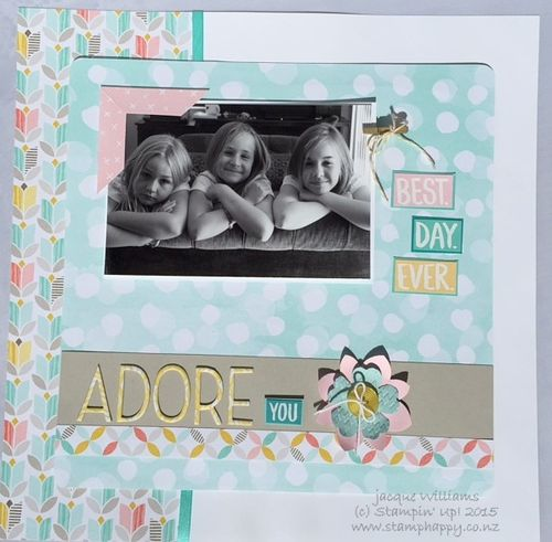 Stampn up best year ever easy layout scrapbooking