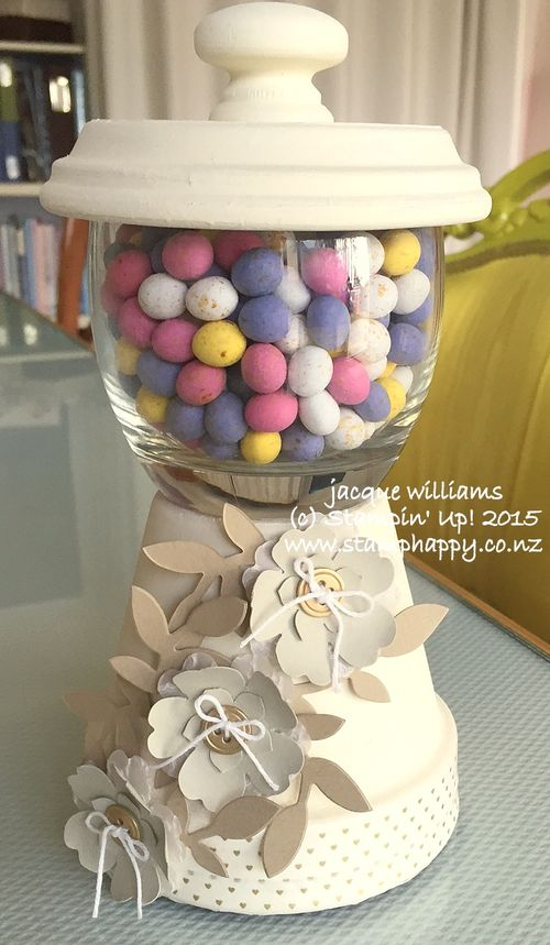 Stampin up pansy punch gumball machine