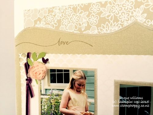 Stampin up scrapbooking layout wedding coming to the chapel