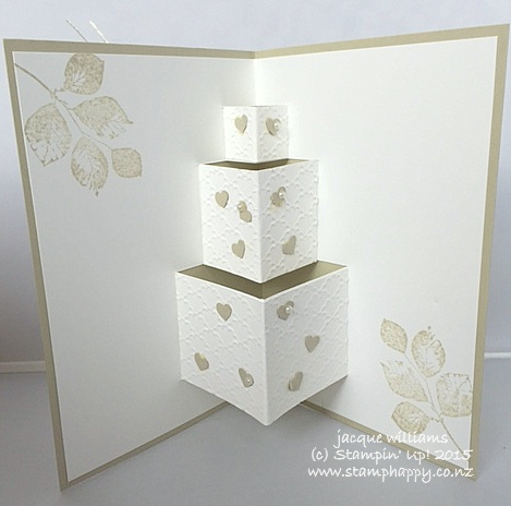 Stampin up wedding card pop up kinda eclectic