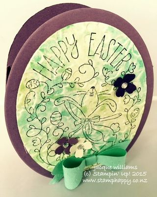 Stampin up happy easter easter egg