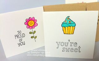 Stampin up love notes sweet stuff