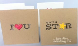 Stampin up love notes pictogram punches