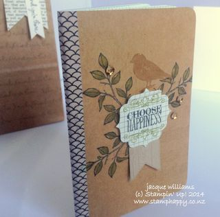 Stampin up journal choose happiness in color sequins